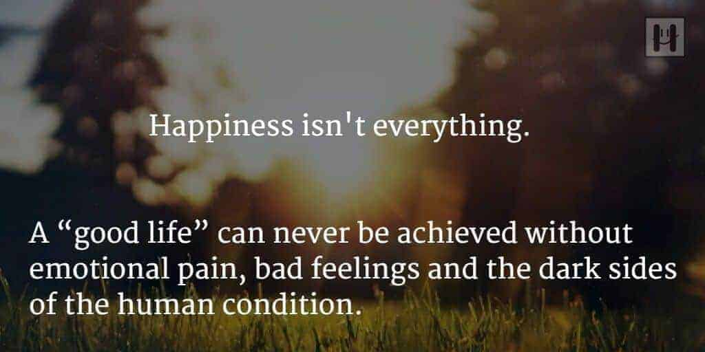 Happiness is not everything