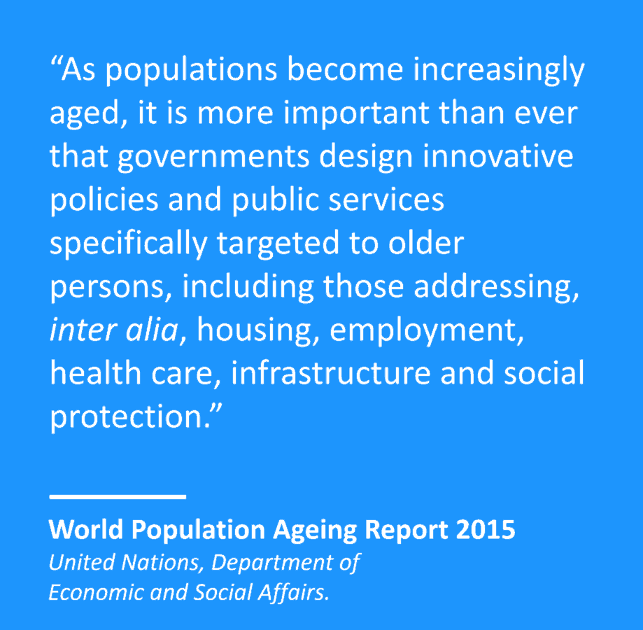 world population ageing report 2015