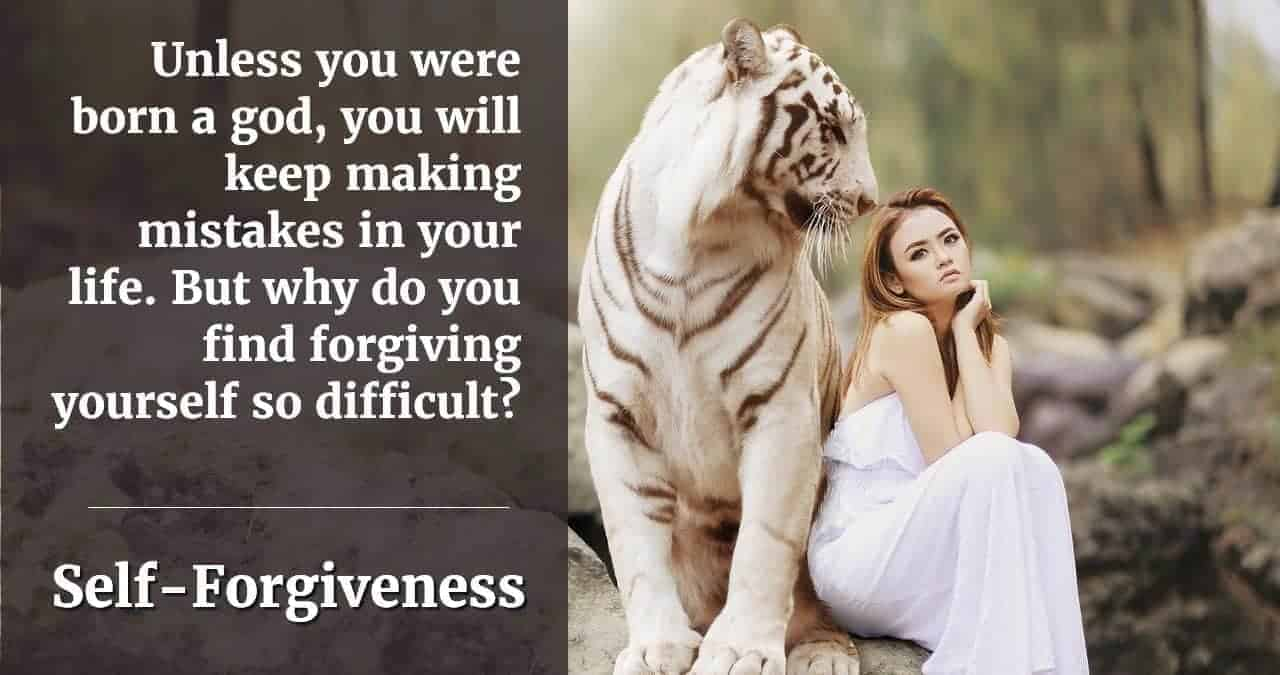 why is it hard to forgive yourself
