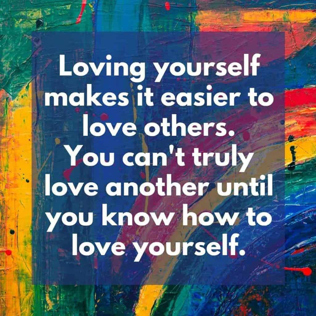 Loving yourself is easy