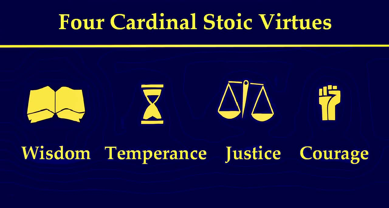 4 Stoic virtues infographic
