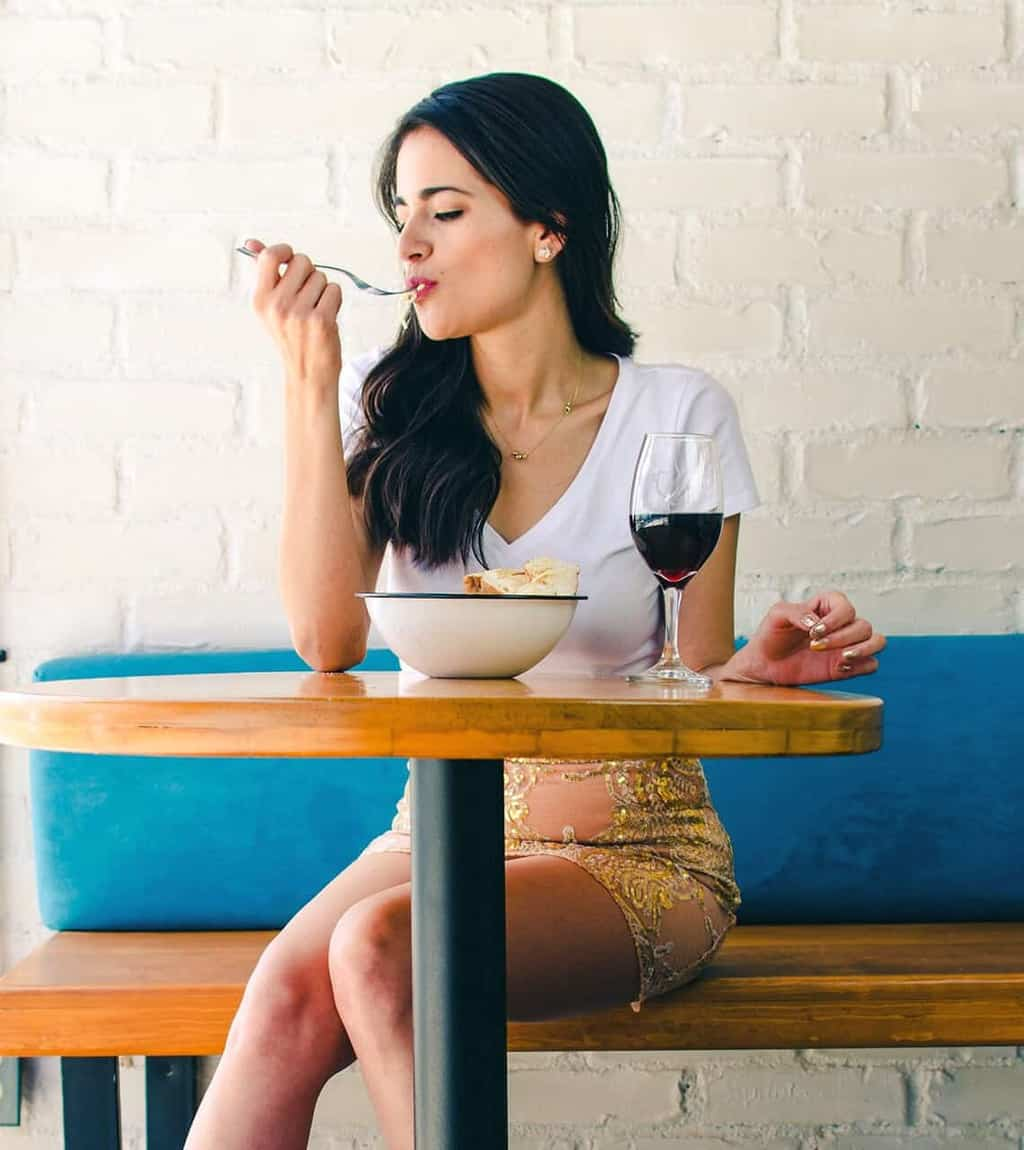 Woman-Mindfully-Eating-Ice-cream