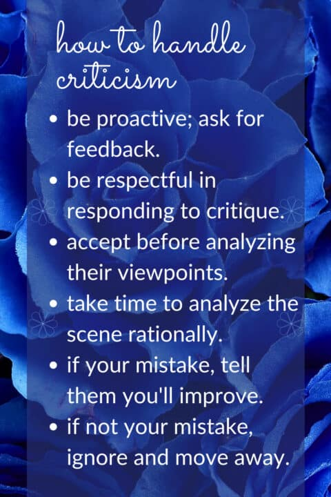 tips to stop being sensitive to criticism